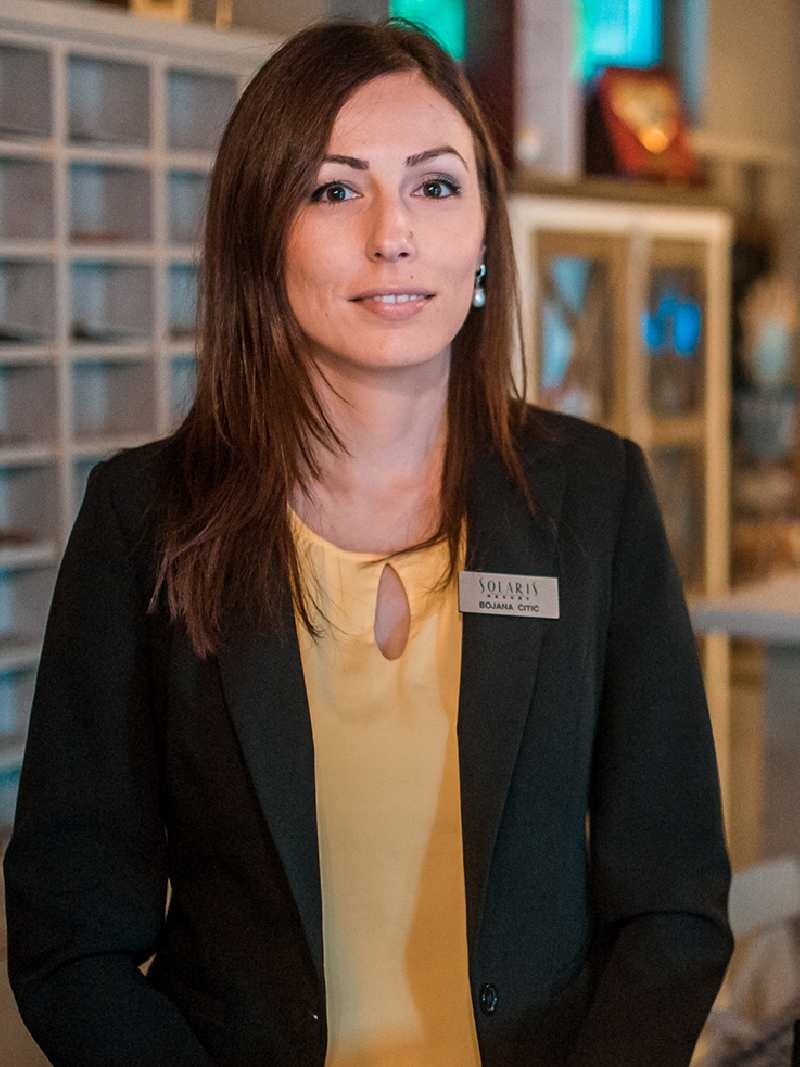 Bojana Ćitić je šef recepcije u Solaris Resortu u Vrnjačkoj Banji