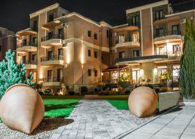 dvorište solaris resort-a u Vrnjačkoj banji